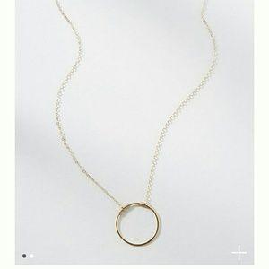 Anthropologie 14K Gold Eternity Necklace